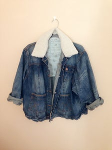 Image of Distressed Oversized Western Jacket w/ Collar