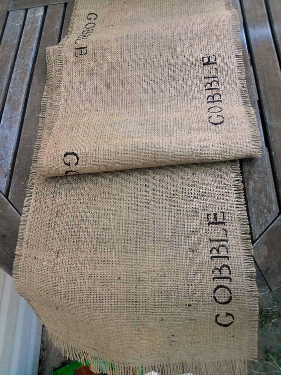 Image of Burlap Table Runner