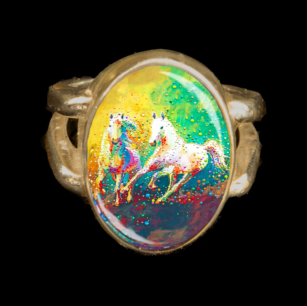 Image of Helios - A Vision Of Light - Metaphysical Horse Energy Ring