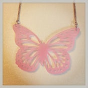 Image of Pale Pink Butterfly Necklace