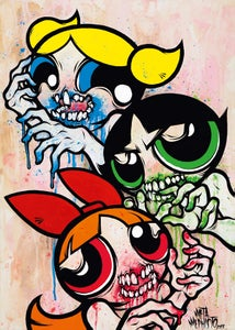 Image of Powerpuff Gore (Print)