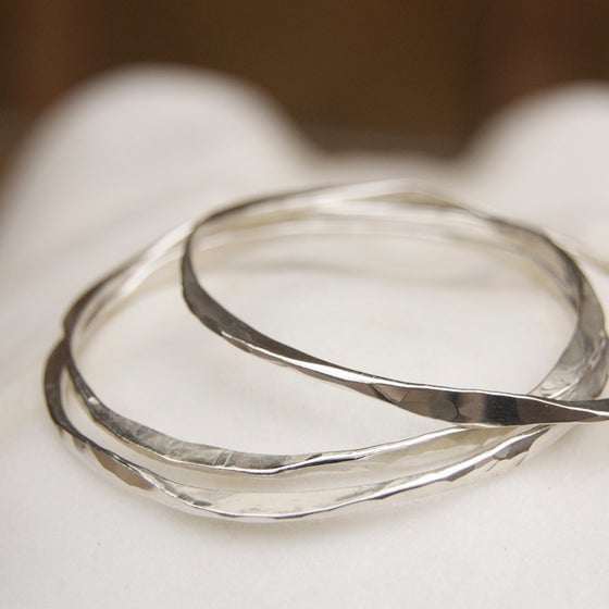 Image of Flowing hammered bangles