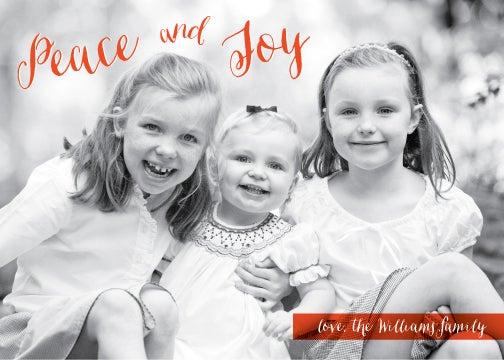 Image of Peace & Joy Holiday Card