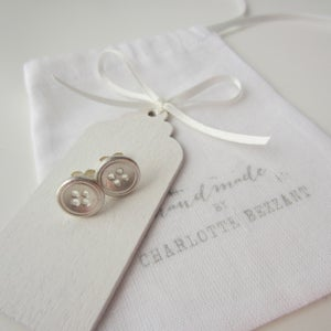 Image of Large two hole button earrings