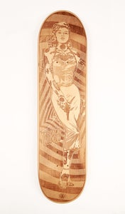 Image of The Black Widow | Laser Cut Skateboard