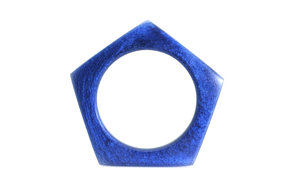 Image of Metallic Blue Pentagon