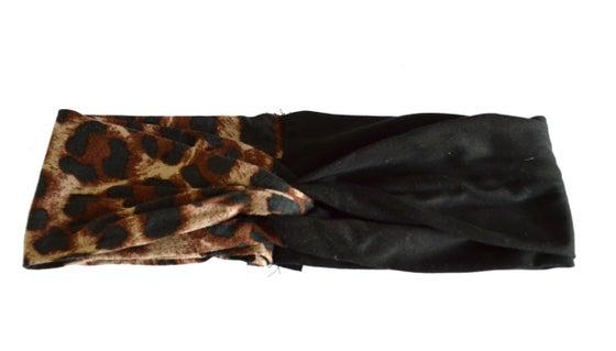 Image of Leopard Print Colorblock Turband