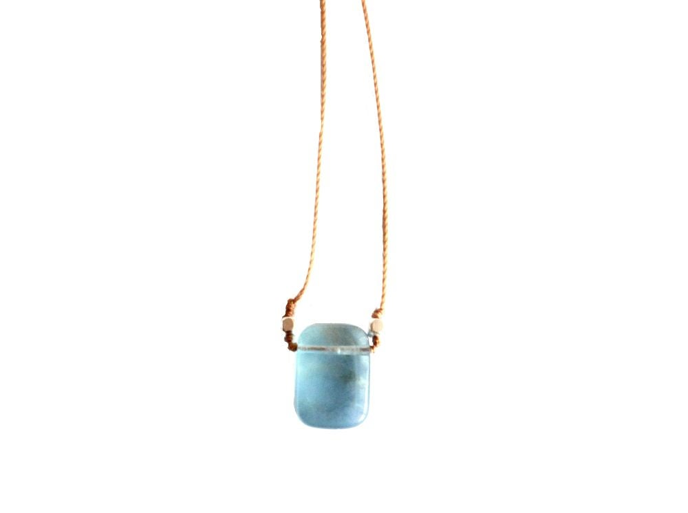 Image of Fluorite Rectangle Necklace
