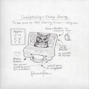 "Image of Original Rendering: ""Purring"""