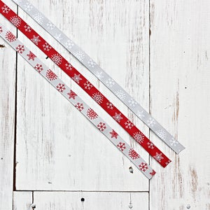 Image of Snowflake Grosgrain Ribbon