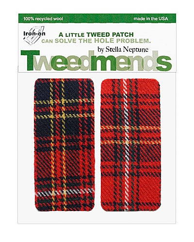 Image of Iron-on Elbow Wool Patches - Punk Rock Plaid - Limited Edition!