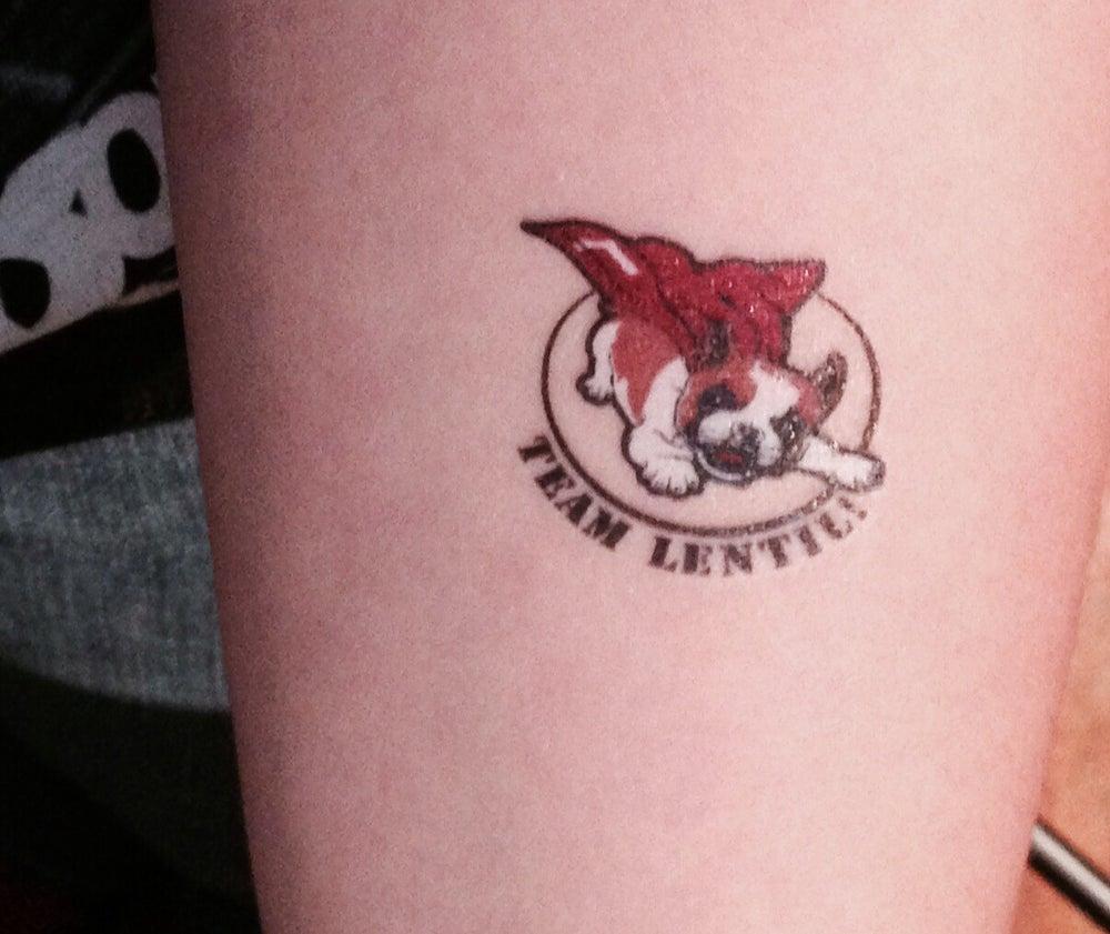Image of Team Lentil Temporary Tattoos!!  12pk
