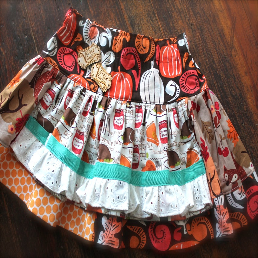 Image of Giving thanks Apron Skirt 12m-8