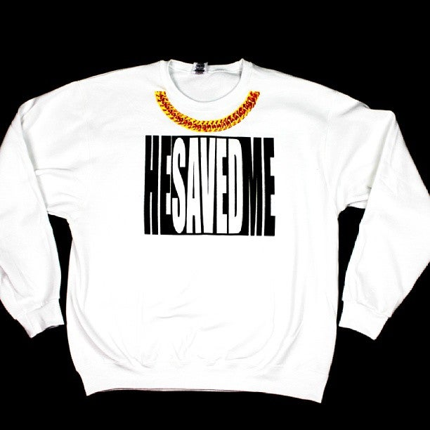 "Image of ""He SAVED Me"" Sweatshirt"