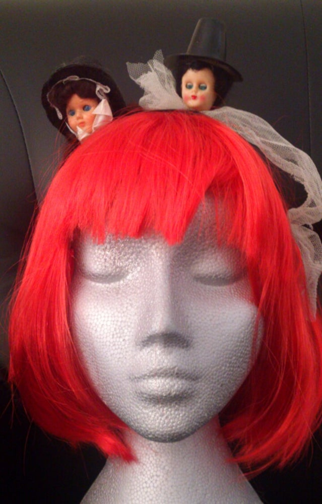 Image of Creepy Hat Twins Head piece