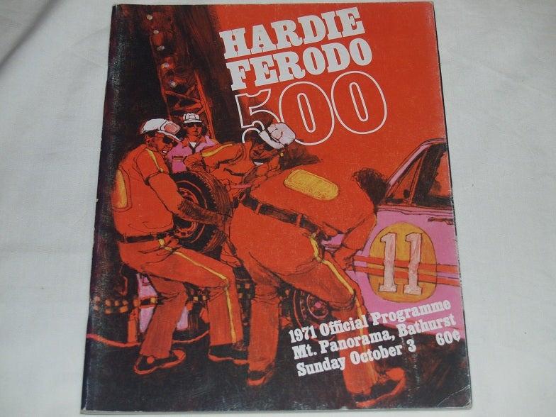 Image of 1971 BATHURST - HARDIE FERODO 500 - Race Programme.
