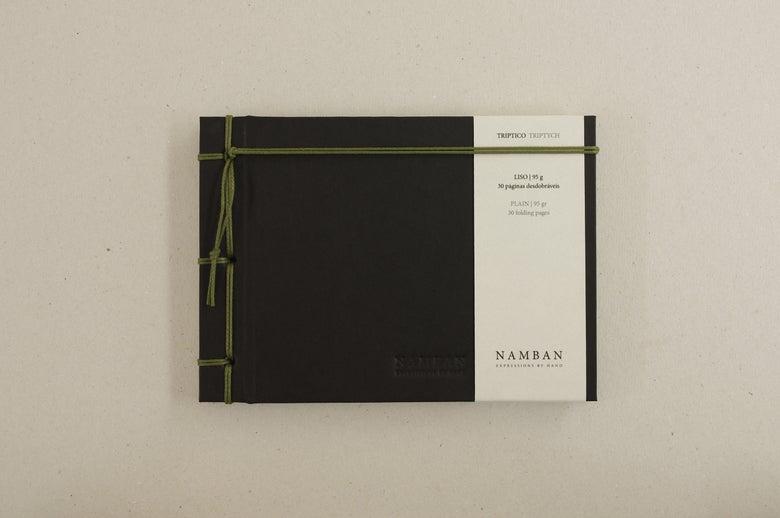 Image of Caderno tríptico liso   Triptych plain notebook A6