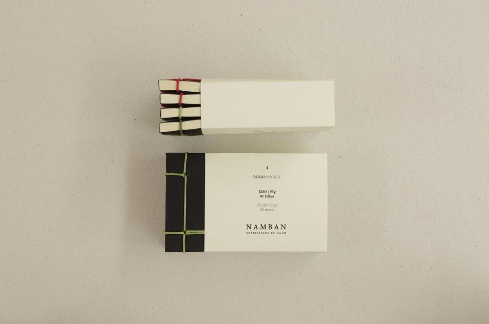 Image of Caderno bolso   Pocket notebook 4 un. A7