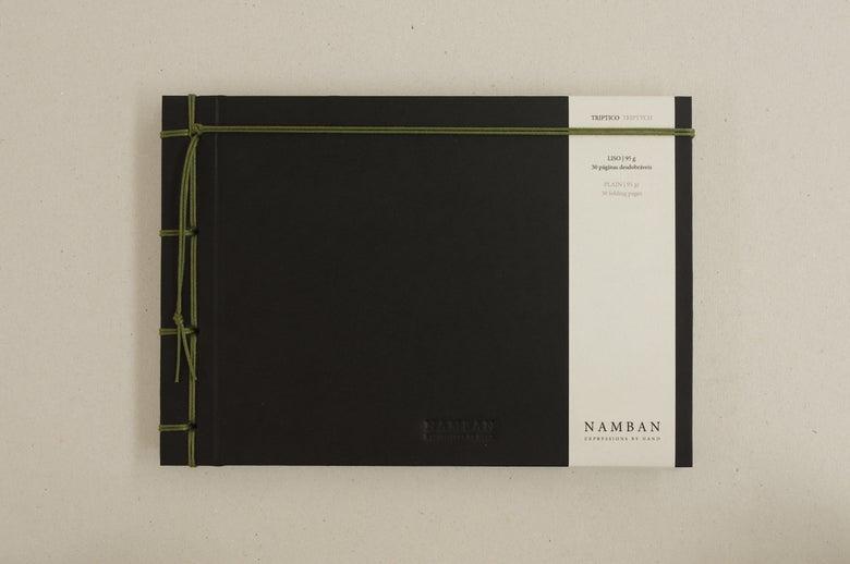 Image of Caderno tríptico liso   Triptych plain notebook A5