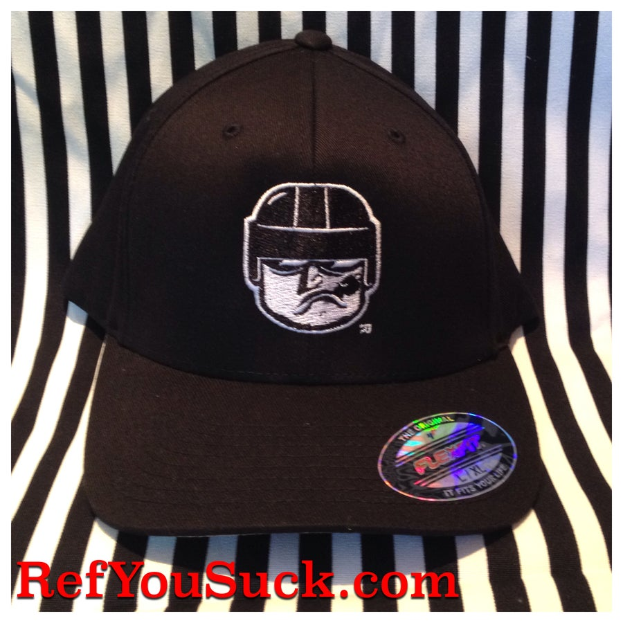 Image of Ref You Suck! - Hockey Referee Flexfit Cap