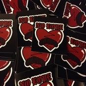 Image of No Love Broken Heart Sticker