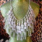 Image of Vintage Skeleton Charm Necklace Skellybobs Halloween Horror Skull