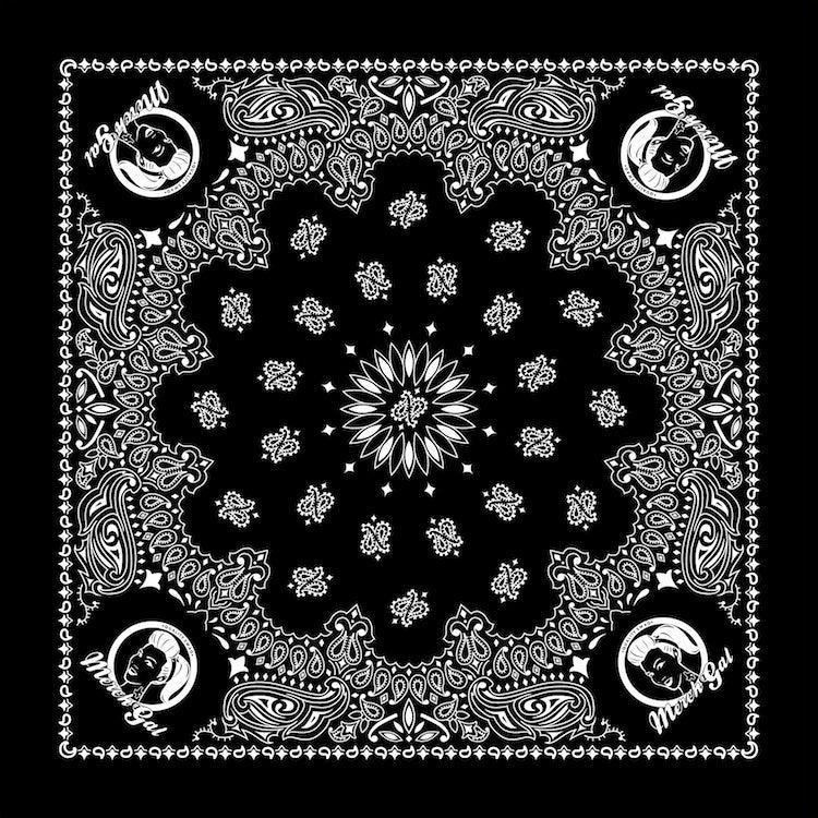 Image of MerchGal Paisley Bandana (black)