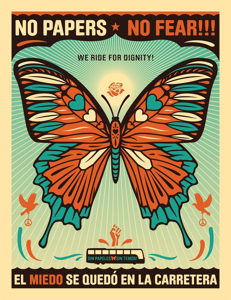Image of No Papers No Fear Butterfly Poster