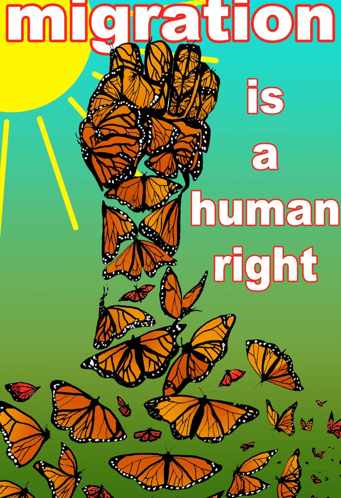 Image of Migration is a Human Right Poster