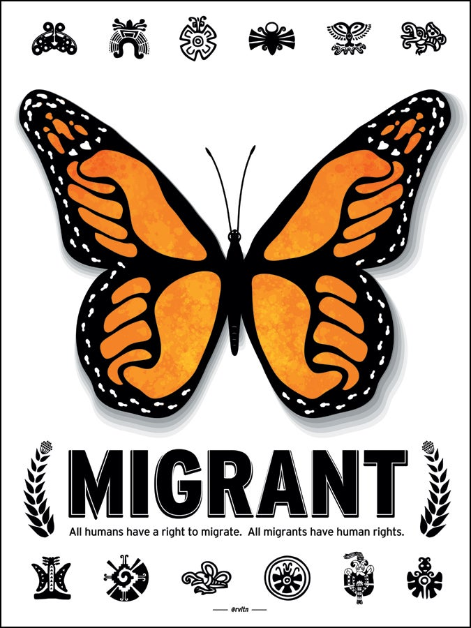 Image of Migrant Butterfly Poster