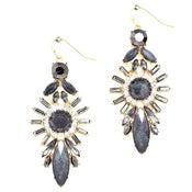 Image of Black Astroid Drop Earrings