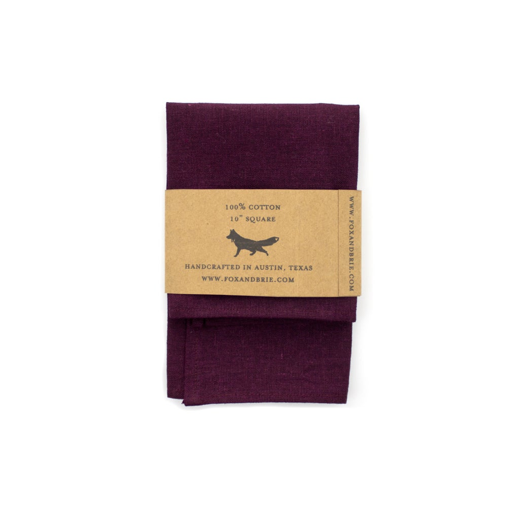 Image of Eggplant Linen Pocket Square