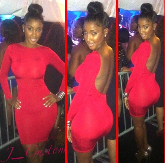 Image of Red Backless BodyCon