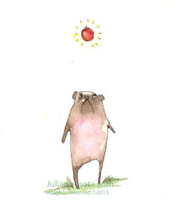 "Image of ""Apple, Bearpug""- Greeting card"