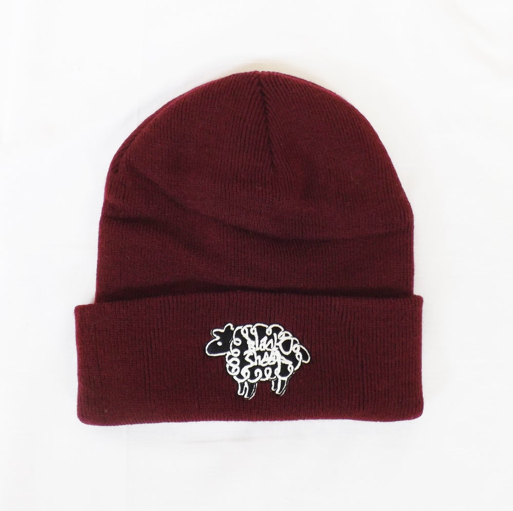 Image of BEANIE HAT (BURGUNDY)