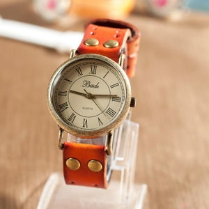 Image of Retro Leather Watch Vintage Style Wrist Watch (WAT0005)