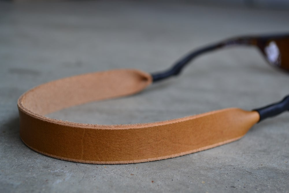Image of Horween Leather Sunglasses Strap (Honey)