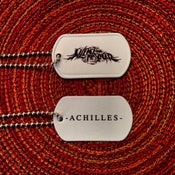 "Image of ""Achilles"" dog tag"