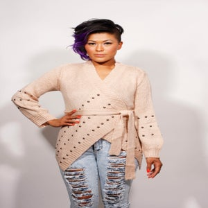 Image of Pink Studded Sweater