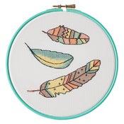 Image of Flutter cross-stitch kit