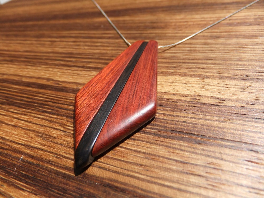 Image of Trio Necklace - Bloodwood and Ebony
