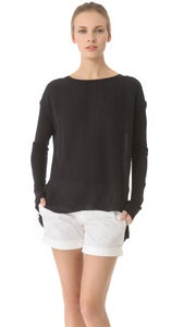 Image of VINCE SILK/ KNIT LOOSE TOP