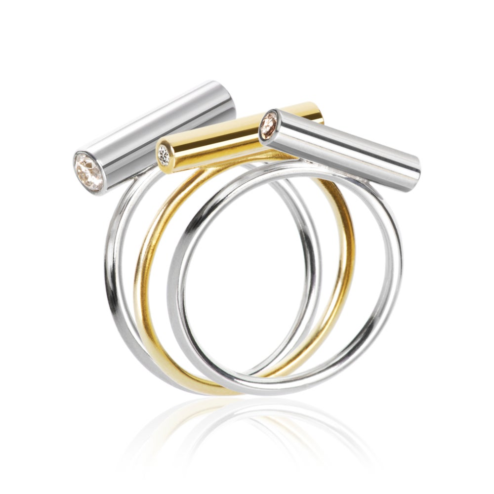 Image of Pin Ring Silver Medium