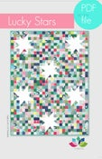 Image of lucky stars quilt pattern PDF file