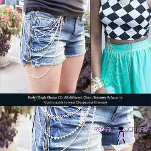 Image of Rhinestone Leg Chain