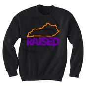 Image of KY Raised Crewneck Sweatshirt in Black/Orange/Purple