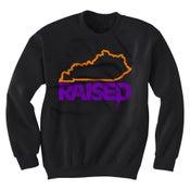 Image of KY Raised Crewneck Sweatshirt in Black / Orange / Purple (Discontinued Style)