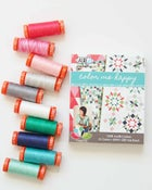 Image of small 10 spool aurifil color me happy thread