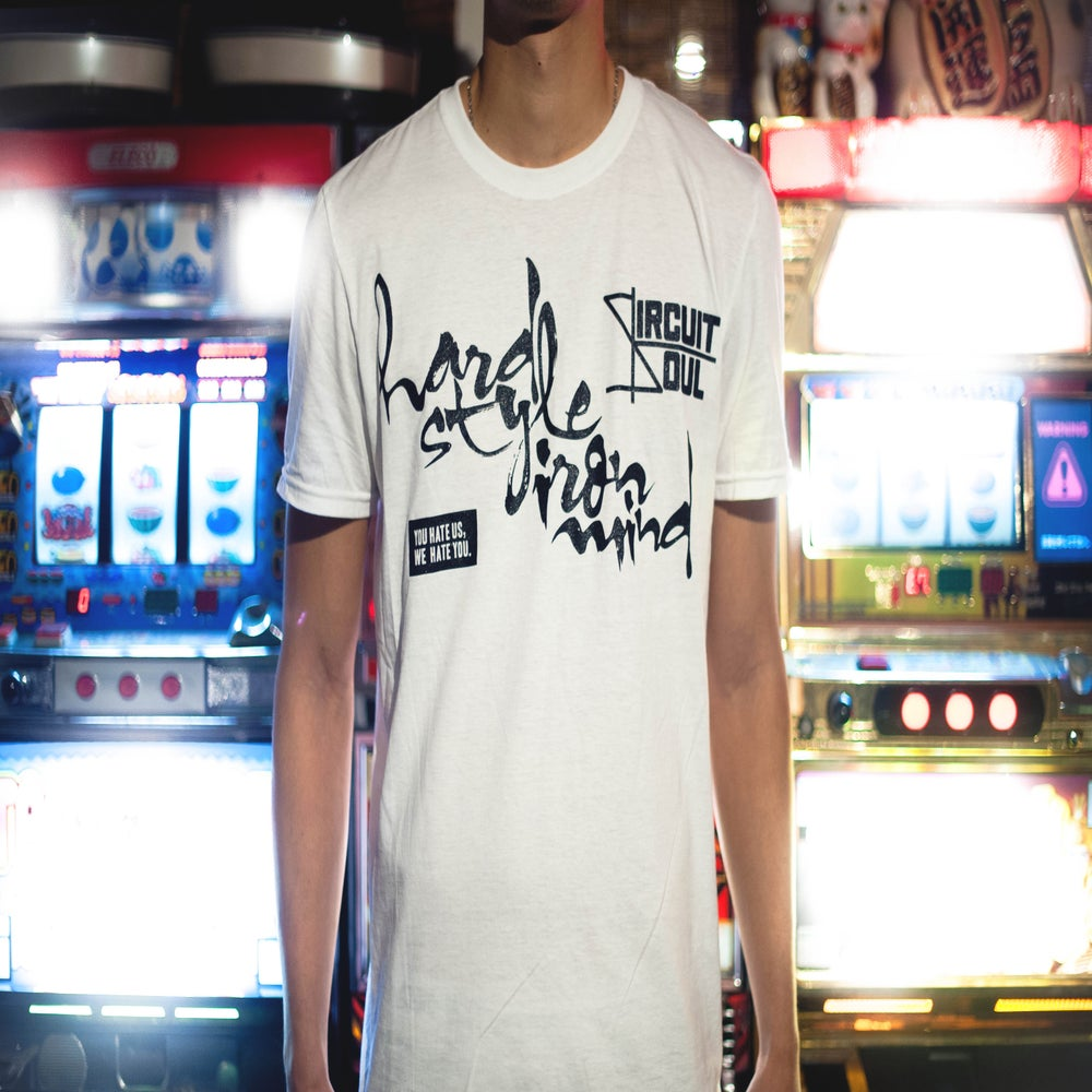 Image of Circuit Soul 'HARD STYLE x IRON MIND' fitted t-shirt