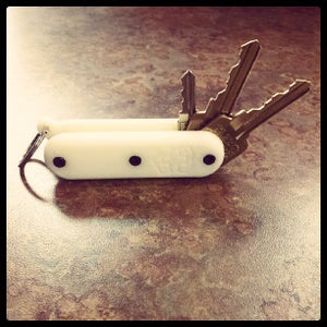 Image of 3D Printed Multi-Tool Army Style Fold-out Keychain